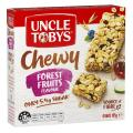 Uncle Tobys Chewy Muesli Bars Forest Fruit 185g Box 6