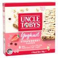 Uncle Tobys Yoghurt Topps Museli Bar Strawberry 185g Box 6
