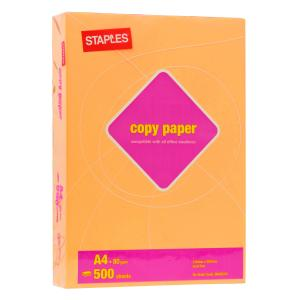 Staples Tinted A4 Copy Paper 80gsm Gold Ream
