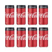 Coca-Cola No Sugar Slim Line Can 200ml Pack 8