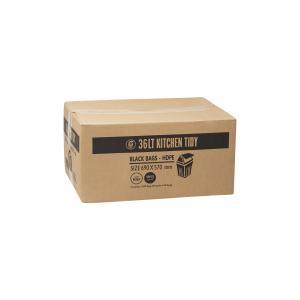 Austar Bin Liners Kitchen Tidy 580x700mm 36 Litre Black Roll 50 Carton 1000