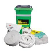 3M General Purpose Spill Kit Wheelie Bin 130L Absorption Capacity