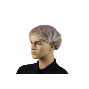 Safechoice Disposable Crimped Hairnet White Carton 1000