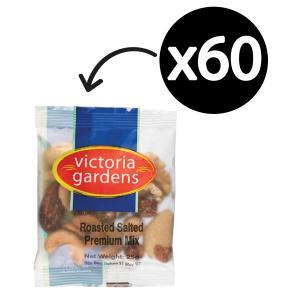 Victoria Gardens Premium Mixed Nuts Salted Portion Control 25g Carton 60