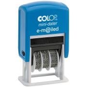 Colop Mini Date 'Emailed' Self-Inking Stamp With Blue & Red Ink