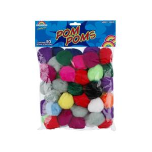 Pom Poms Assorted Colours 38mm Bag 100