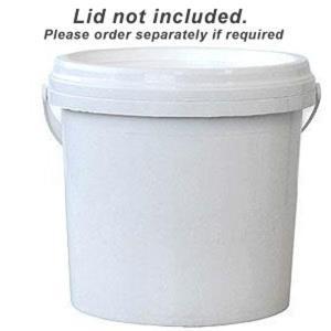 Plastic Vi 41159 Round Pail With Plastic White Handle 1 Litre
