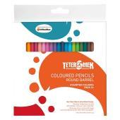 Teter Mek Round Coloured Pencils Pack 24