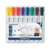 Staedtler Lumocolor Whiteboard Marker Bullet 2.0mm Assorted Colours Wallet 8