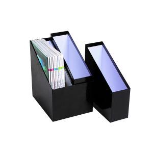 Marbig Simple Storage Magazine Holder 4 Section Black