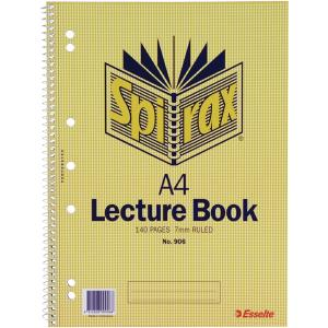 Spirax 906 Lecture Book A4 Side Opening 140 Pages