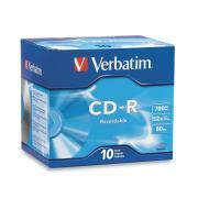 Verbatim CD-R 700 MB / 52x / 80 Min - 10-Pack Jewel Case