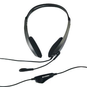 Verbatim Urban Headgear Multimedia Stereo Headphones with Microphone & Volume Control