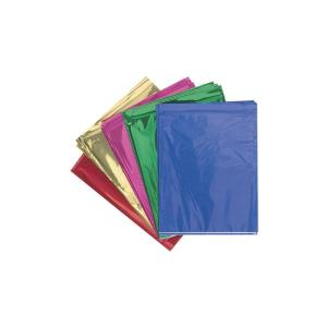 Rainbow Cellophane 750X500mm Metallic Colour 5 Assorted Pkt25
