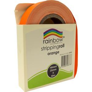 Rainbow Stripping Streamer Roll 25mmx30mm Orange