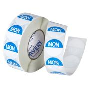 Avery Food Rotation Monday Day Label Removable Adhesive Blue 24mm Round Roll 1000