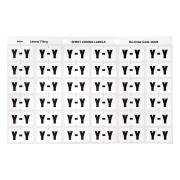 Avery Y Side Tab Colour Coding Labels for Lateral Filing - 25 x 38mm - White - 180 Labels