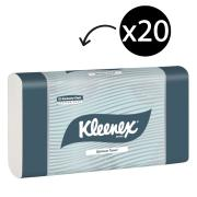 Kleenex 4456 Optimum Hand Towel White 120 Towels Pack Carton 20
