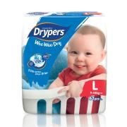Drypers Nappies Toddler Large Pack 62 x 3 Carton 186