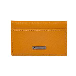 M By Staples Leather Business Card Case 2 Pocket Camel
