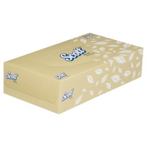 Scott 4725 Facial Tissue / White / Box 100