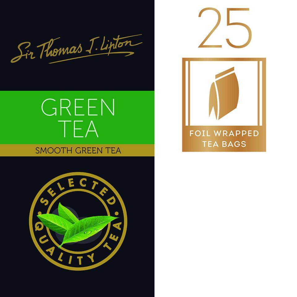 Sir Thomas Lipton Green Tea Tea Bags Pack 25