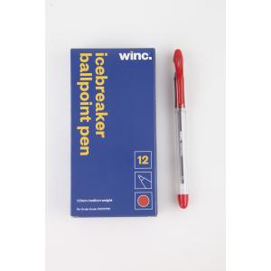 Winc Icebreaker Stick Ballpoint Pen Medium 1.0mm Red Box 12