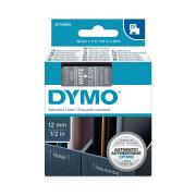 Dymo D1 Label Printer Tape 12mm x 7m White On Clear