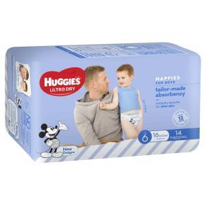 Huggies Junior Nappy Boy 16kg & over Pack 30 Carton Of 3