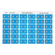 Avery H Side Tab Colour Coding Labels for Lateral Filing - 25 x 38mm - Blue - 180 Labels