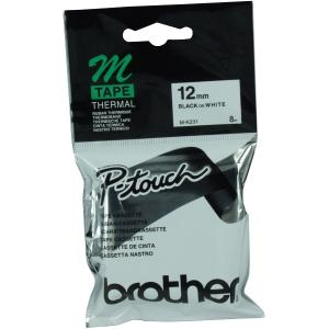 Brother Black On White M-K231 Tape 12mm
