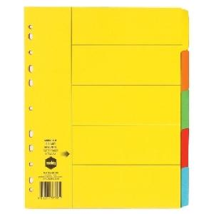 Marbig Dividers Manilla Extra Wide A4 Bright Colours 5 Tab