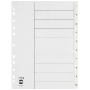 Marbig Dividers Polypropylene A4 White Numbered 10 Tab