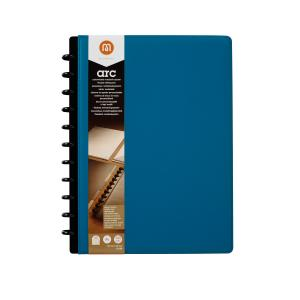 M By Staples ARC Genuine Leather Notebook A4 Blue