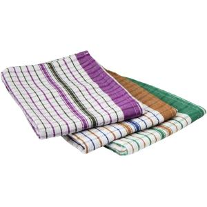 Connoisseur Cotton Tea Towel Assorted Colours Pack 3