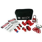 Brady 848284 Electricans Mini Lock Out Pouch With Components Black