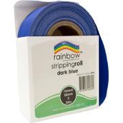 Rainbow Stripping Paper Roll Embossed 50mmx30m Dark Blue