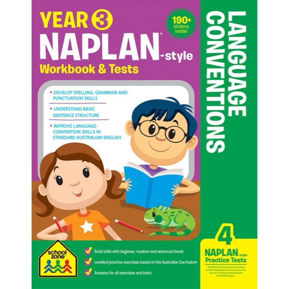 School Zone Yr 3 Naplan-style Language Con Wb & Tests