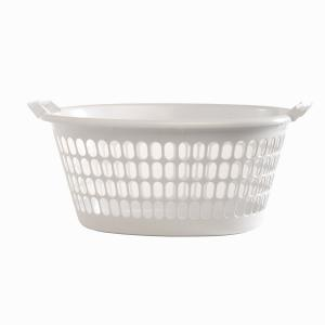 Willow Laundry Washing Basket Plastic White Oval Each