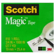Scotch Magic 810-4 Tape Refill Rolls 19mm x 25m Pack 4