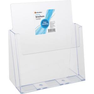 Officemax Freestanding Brochure Holder A4 1 Tier Clear
