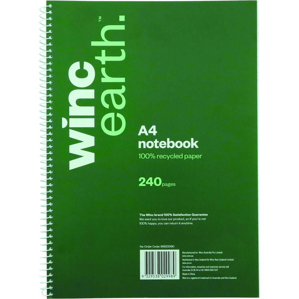 Winc Earth Spiral Notebook A4 240 Page