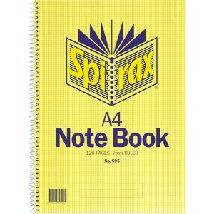 Spirax 595 Notebook A4 Side Opening 120 Pages