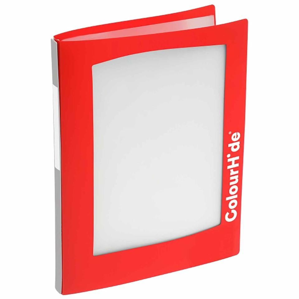ColourHide My Take-A-Look Display Book with Frame 20 Pockets A4 Red
