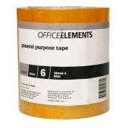 Office Elements General Purpose Tape 18mmx66m Clear Pack Of 6
