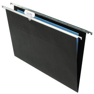 Crystalfile Suspension File Manila Board Heavy Duty Black Pack 50