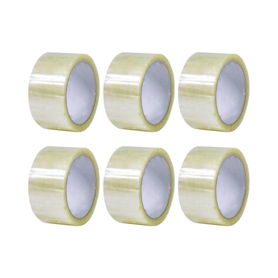 Winc Packaging Tape Acrylic 48mmx75m Clear Pack 6 Rolls