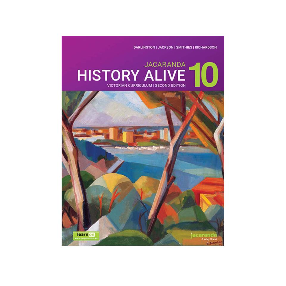 Jacaranda History Alive 10 For The Victorian Curriculum Learnon & Print Darlington Et Al 2nd Edition