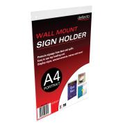 Deflecto Sign Menu Holder Portrait Wall Mount A4 Clear