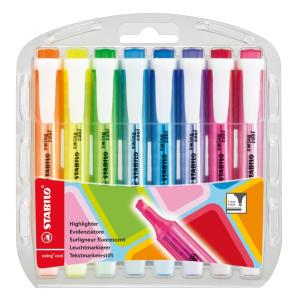 Stabilo Swing Cool Highlighter Chisel Tip 1.0-4.0mm Assorted Colours Set 8